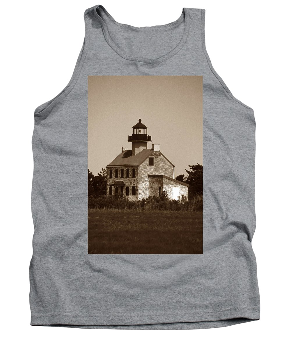 Nj Tank Top featuring the photograph East Point Lighthouse by Skip Willits
