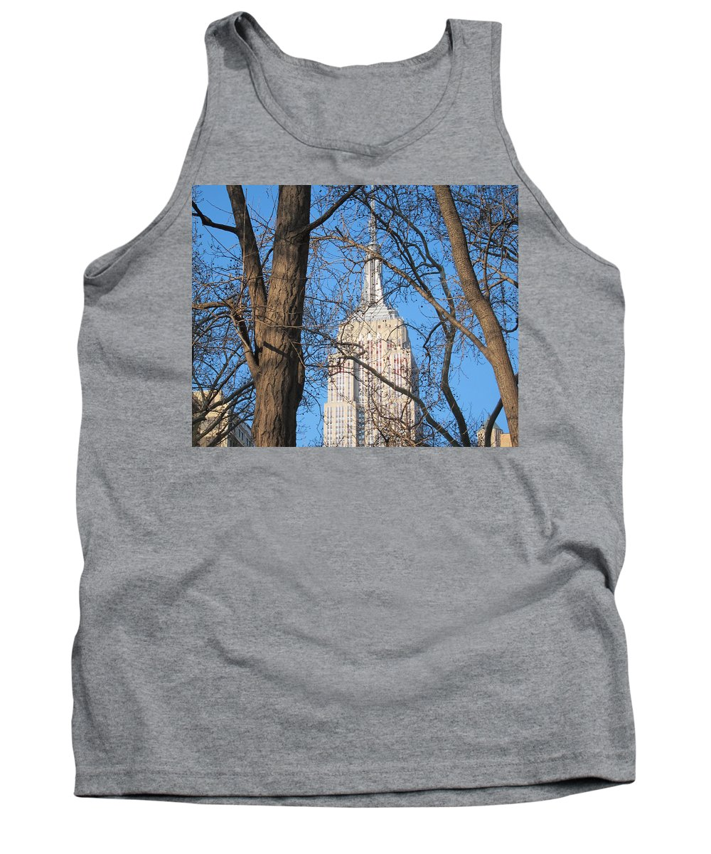 Empire State Tank Top featuring the photograph Empire State Building by Stefa Charczenko