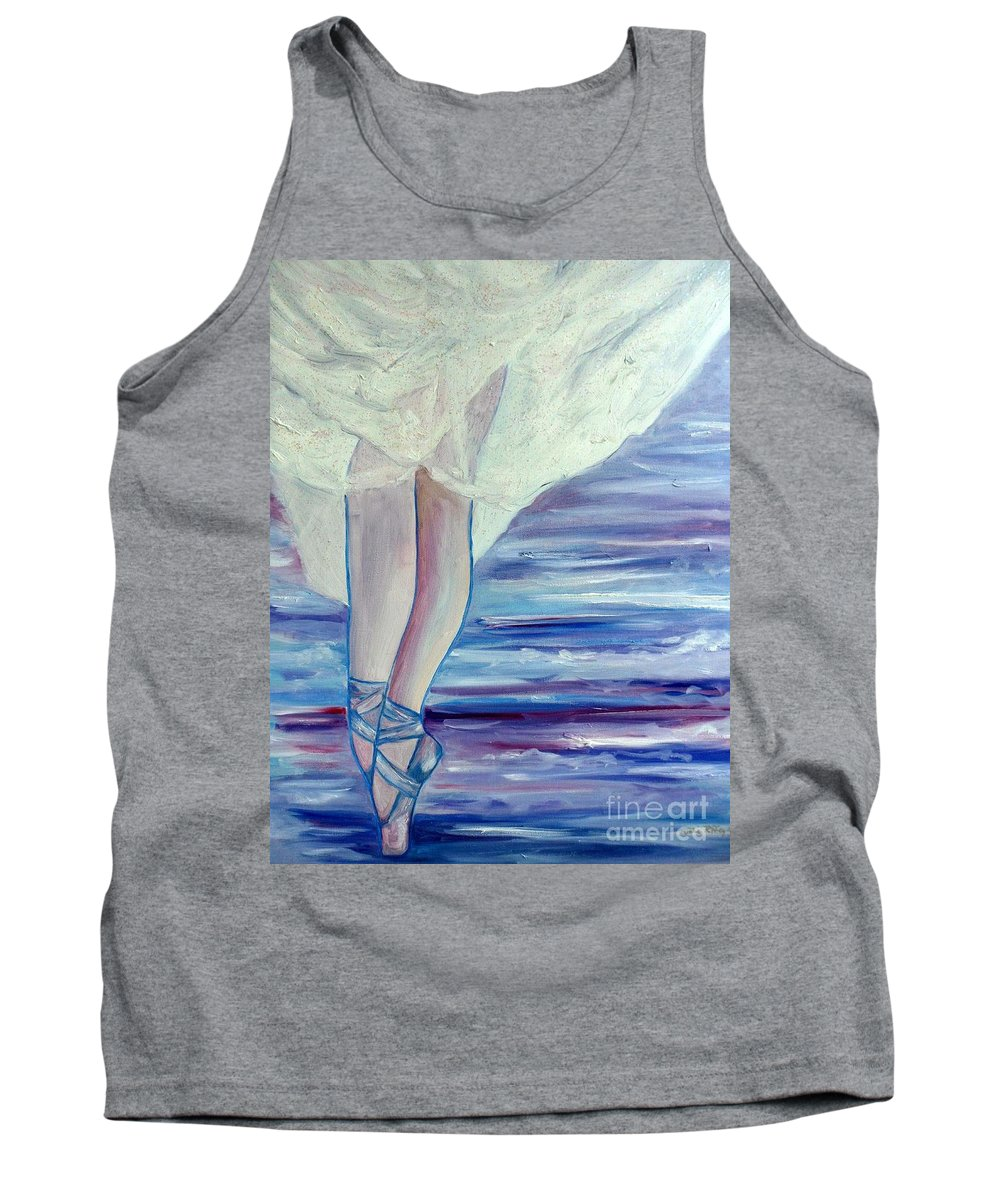 Ballet Tank Top featuring the painting En Pointe by Julie Brugh Riffey