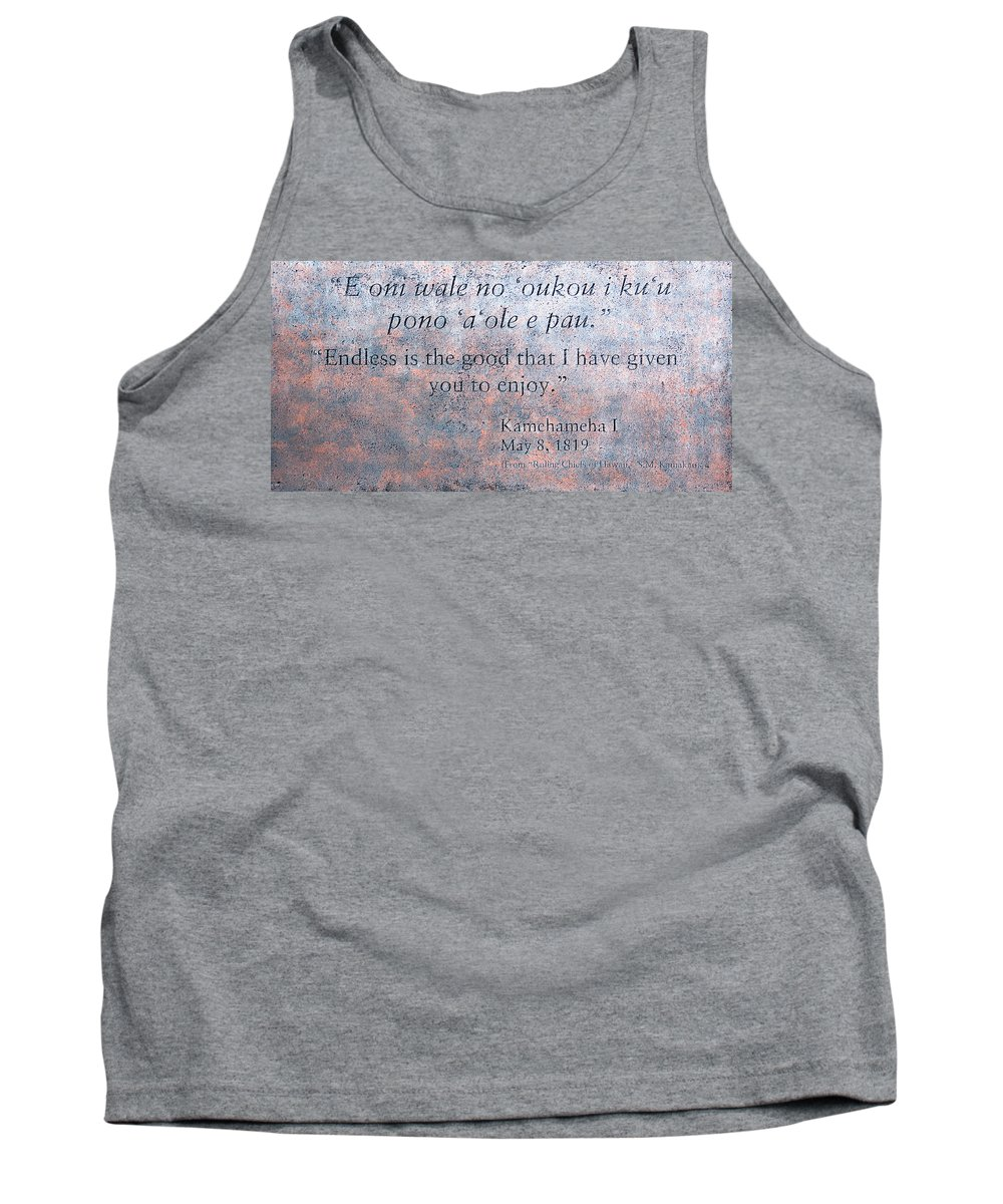Endless Is The Good That I Have Given You To Enjoy Tank Top featuring the photograph Endless Is The Good ... by Ralf Kaiser