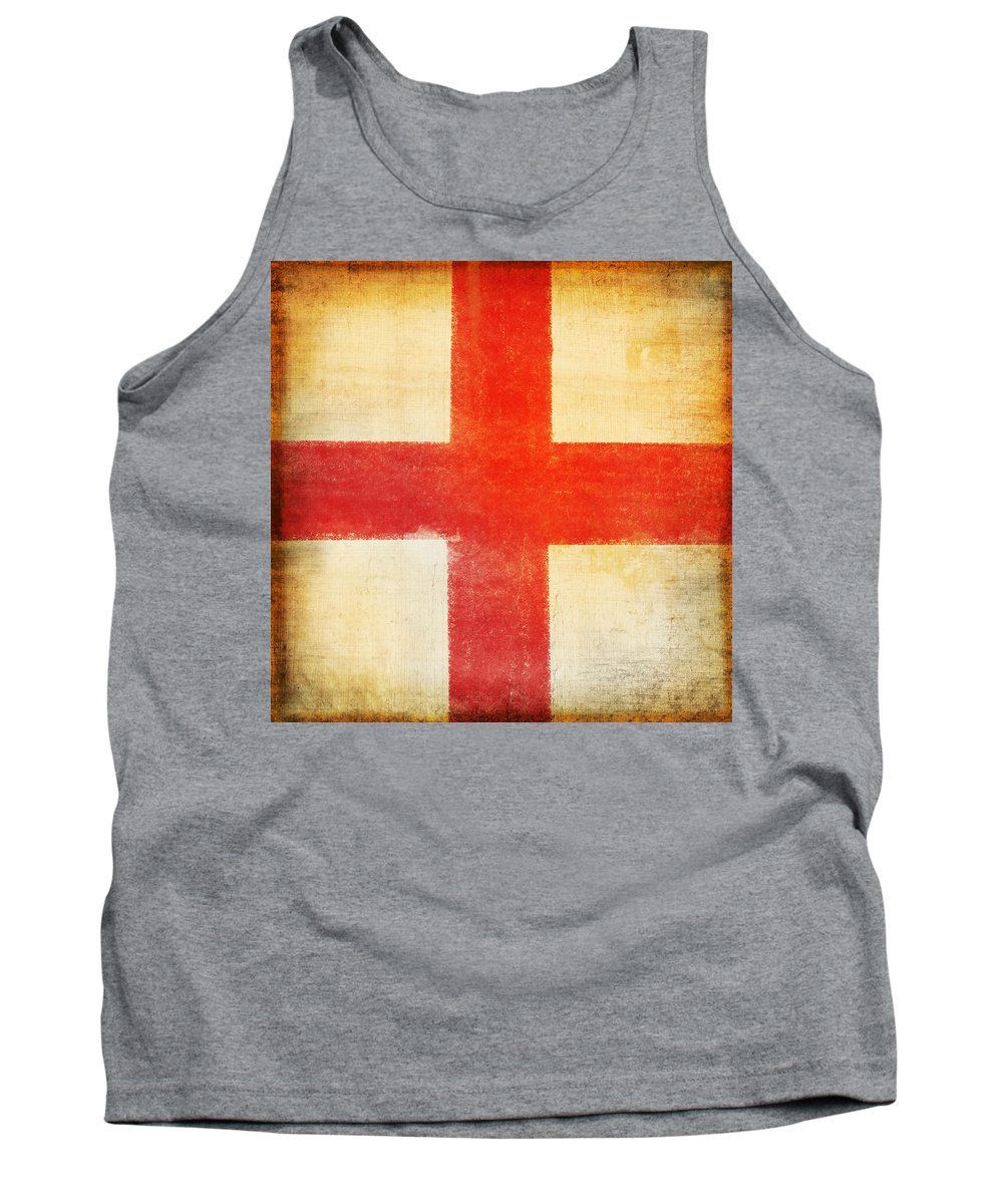 Abstract Tank Top featuring the photograph England Flag by Setsiri Silapasuwanchai