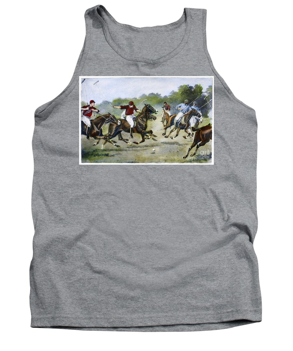 1902 Tank Top featuring the photograph England: Polo, 1902 by Granger