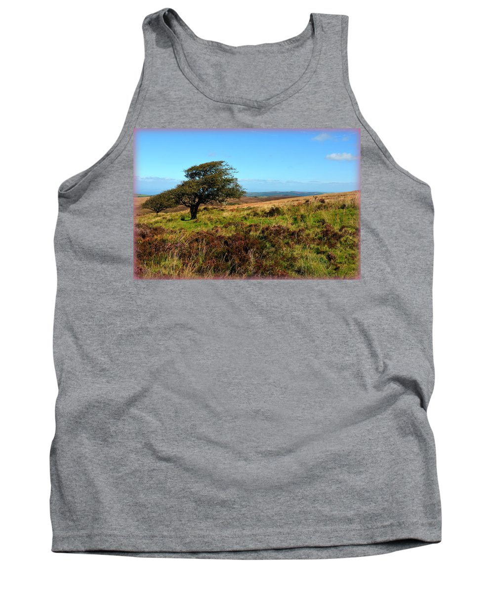 Heather Tank Top featuring the photograph Exmoor's Heather-covered Hills by Carla Parris