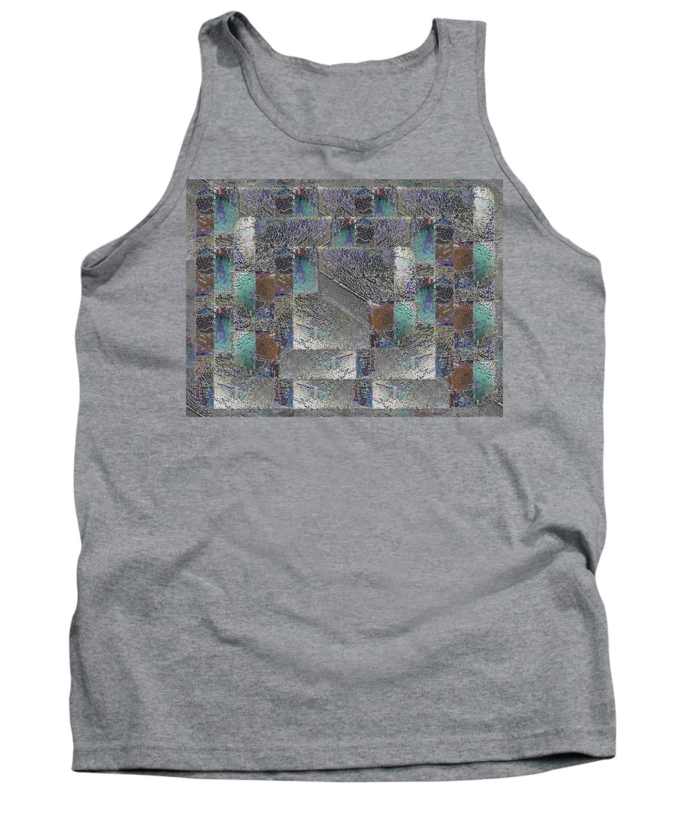 Abstract Tank Top featuring the digital art Facade 16 by Tim Allen