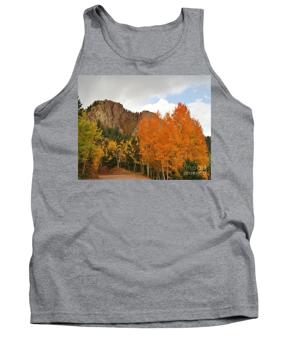 Fall Tank Top featuring the photograph Fall's Glory by Ellen Heaverlo