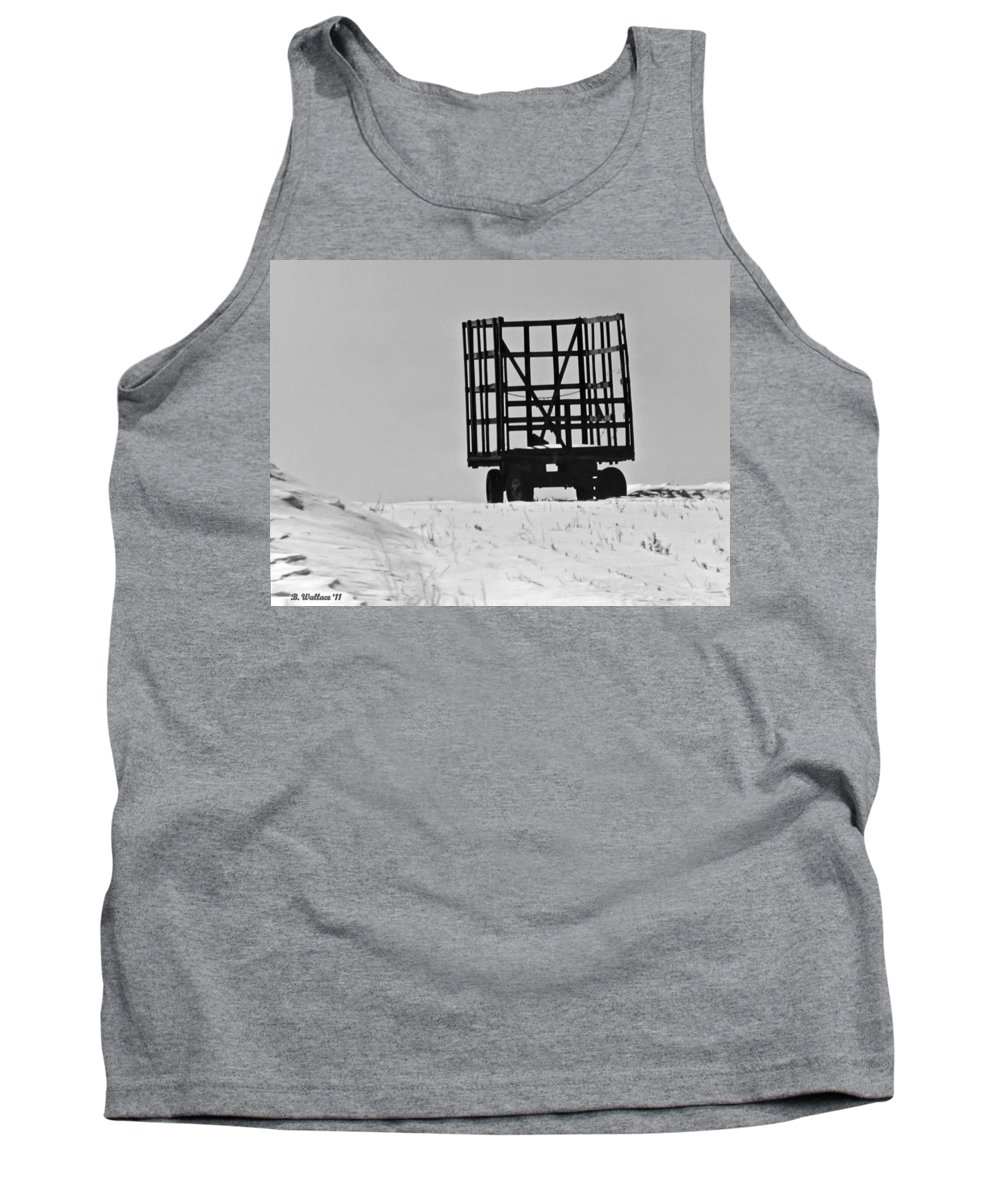 2d Tank Top featuring the photograph Farm Wagon by Brian Wallace