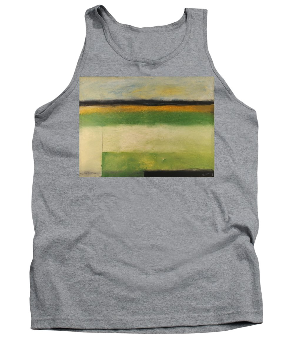 Landscape Tank Top featuring the painting Farmfield By Highway 29 by Tim Nyberg