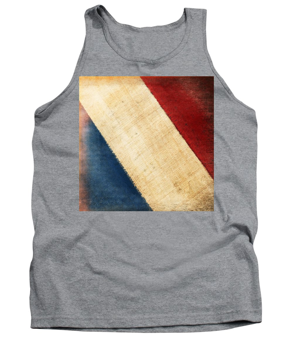 Aged Tank Top featuring the photograph French Flag by Setsiri Silapasuwanchai