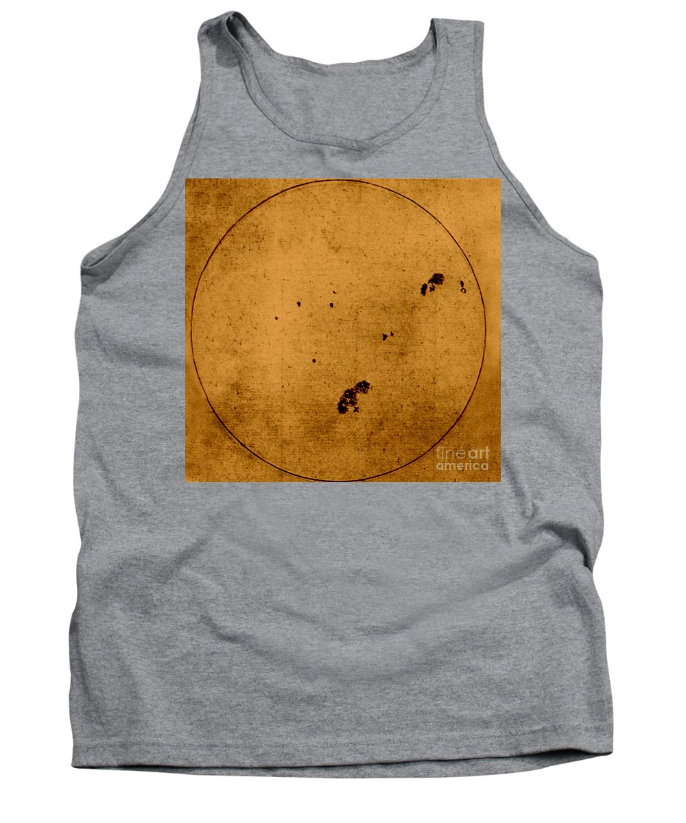 17th Century Tank Top featuring the photograph Galileo Sunspot Illustration by Science Source