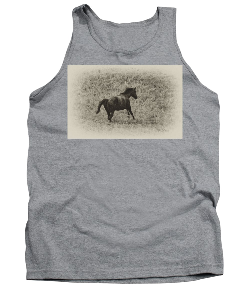 Galloping Horse Tank Top featuring the photograph Galloping Horse by Bill Cannon