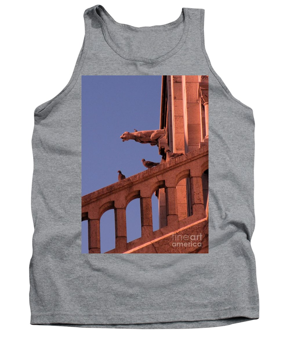Gargoyle Tank Top featuring the photograph Gargoyles On Sacre-couer by John Malone