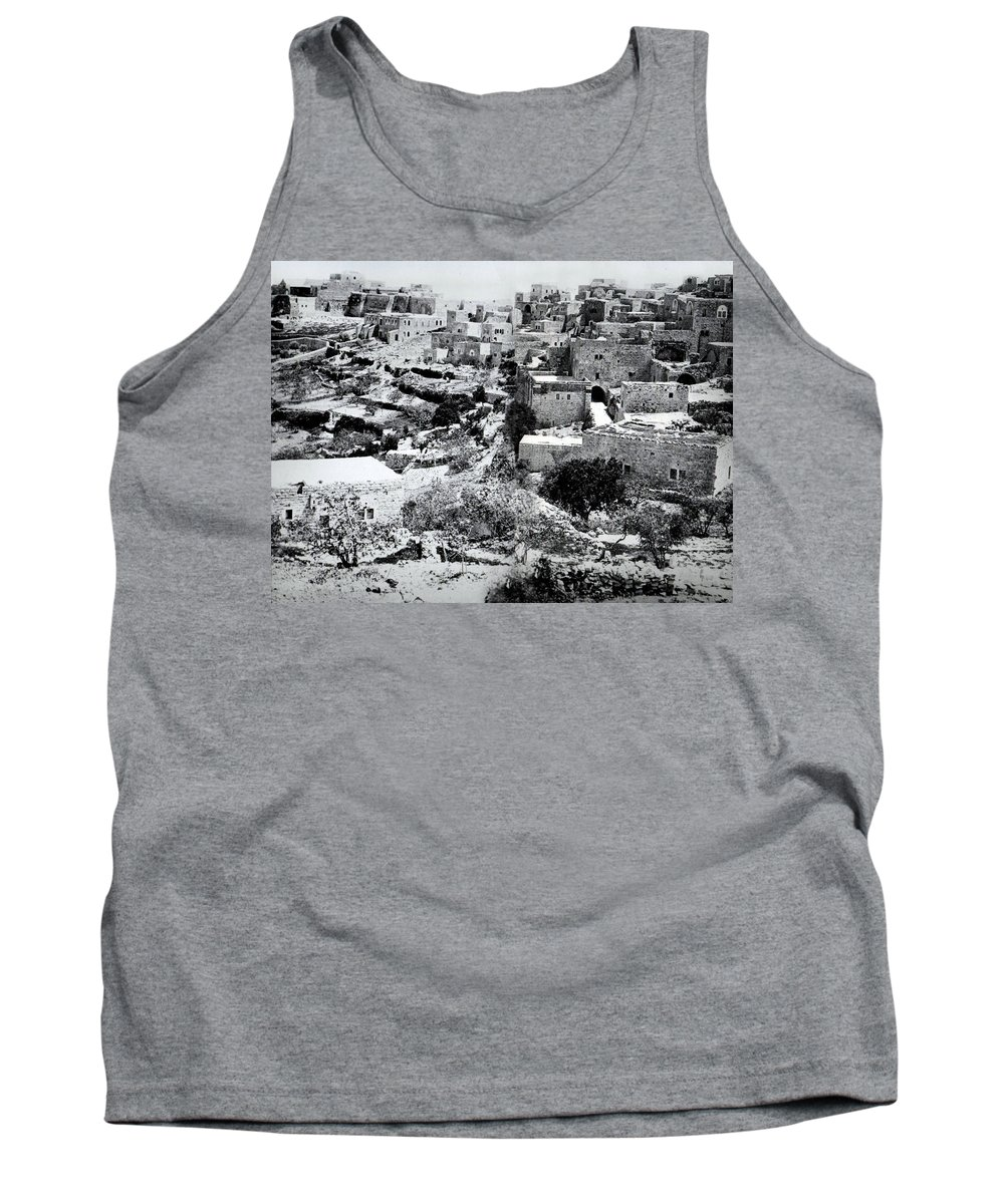 Holy Tank Top featuring the photograph General View Of The Holy Road by Munir Alawi