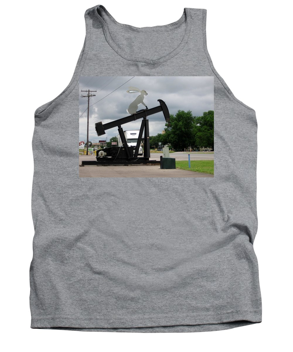 Oil Well Tank Top featuring the photograph Giant Rabbit by Amy Hosp