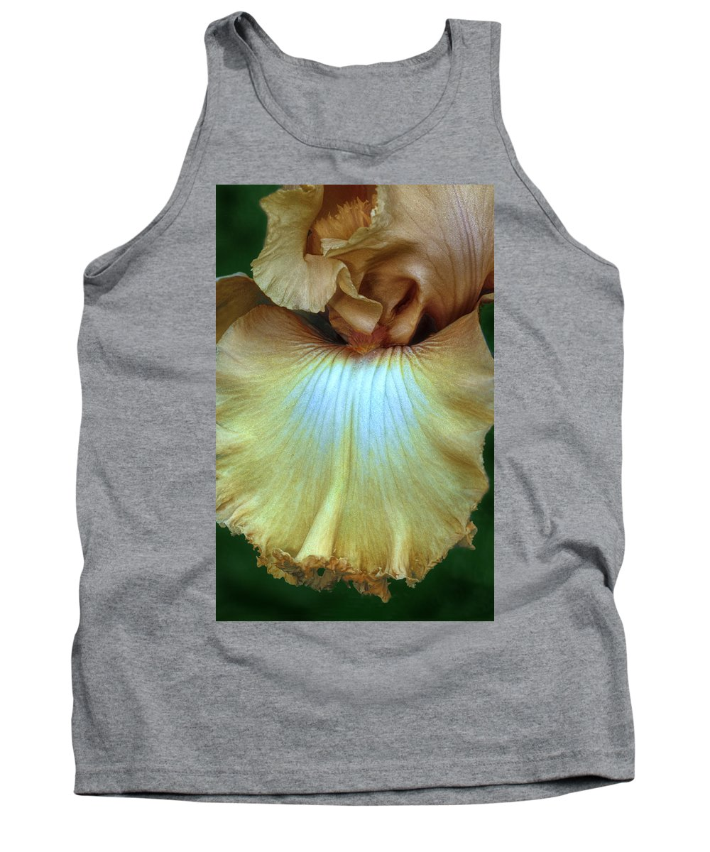 Iris Tank Top featuring the photograph Golden Iris by Dave Mills