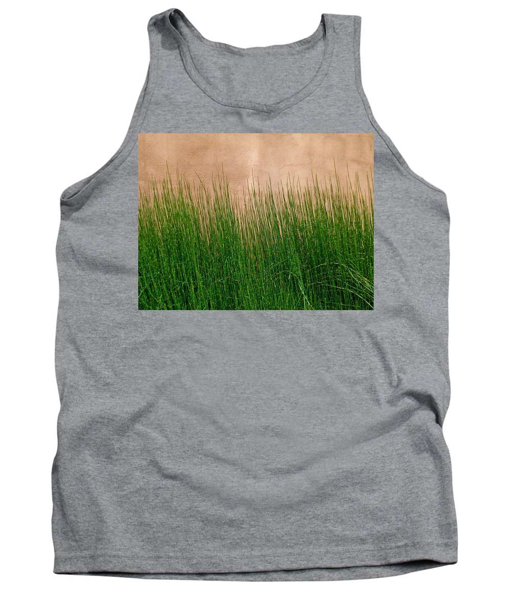 Grass Tank Top featuring the photograph Grass And Stucco by David Pantuso