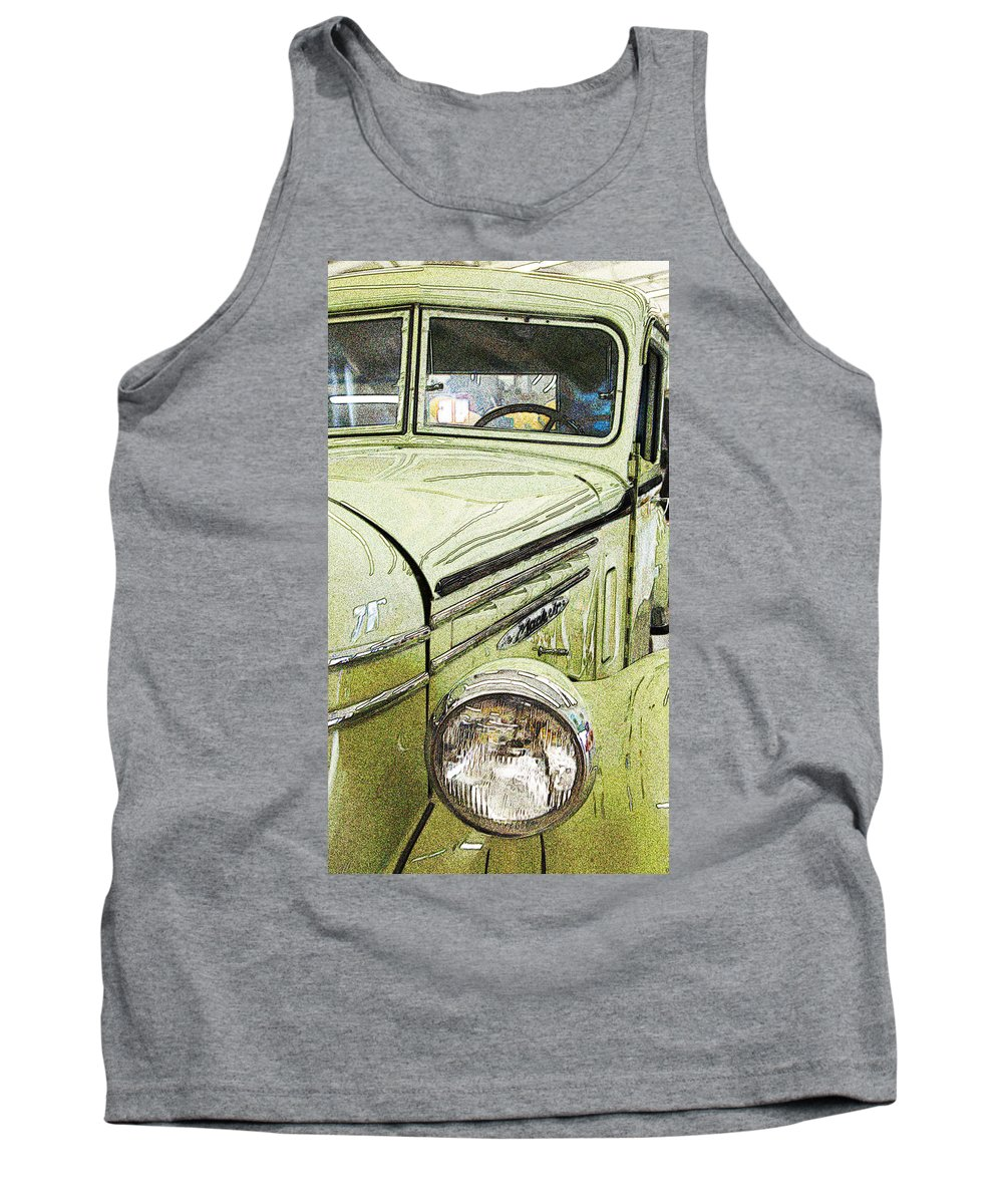Old Truck Tank Top featuring the photograph Green by Joe Fernandez
