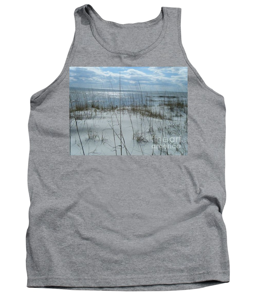 Beach Tank Top featuring the photograph Gulf Coasting by Janice Spivey