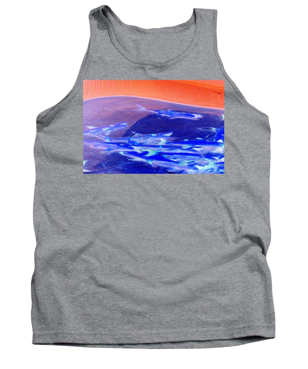 Sharks Tank Top featuring the photograph Dangerous Waters by Joe Jake Pratt