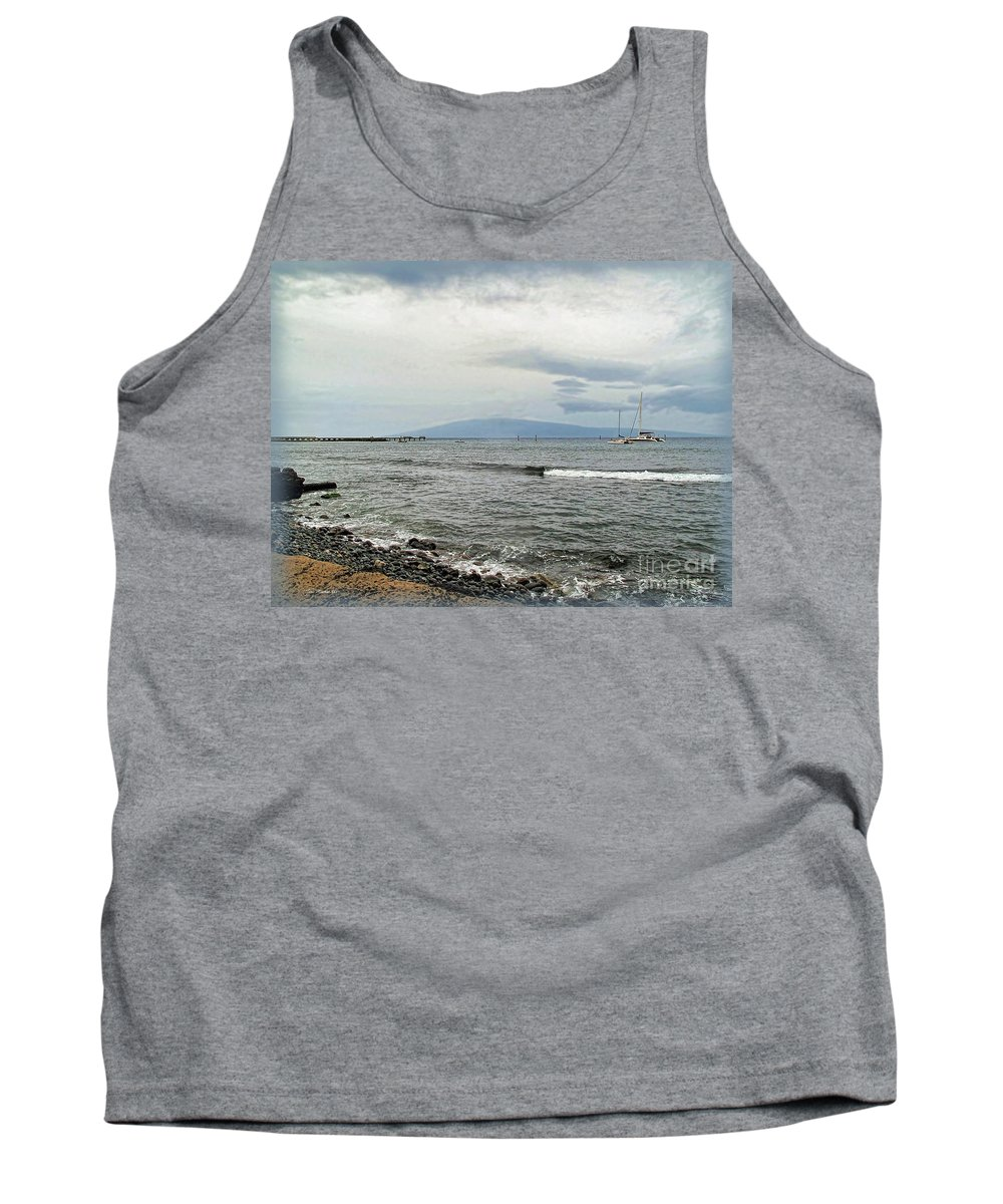 Maui Tank Top featuring the photograph Hawaiian Coastline by Joan Minchak
