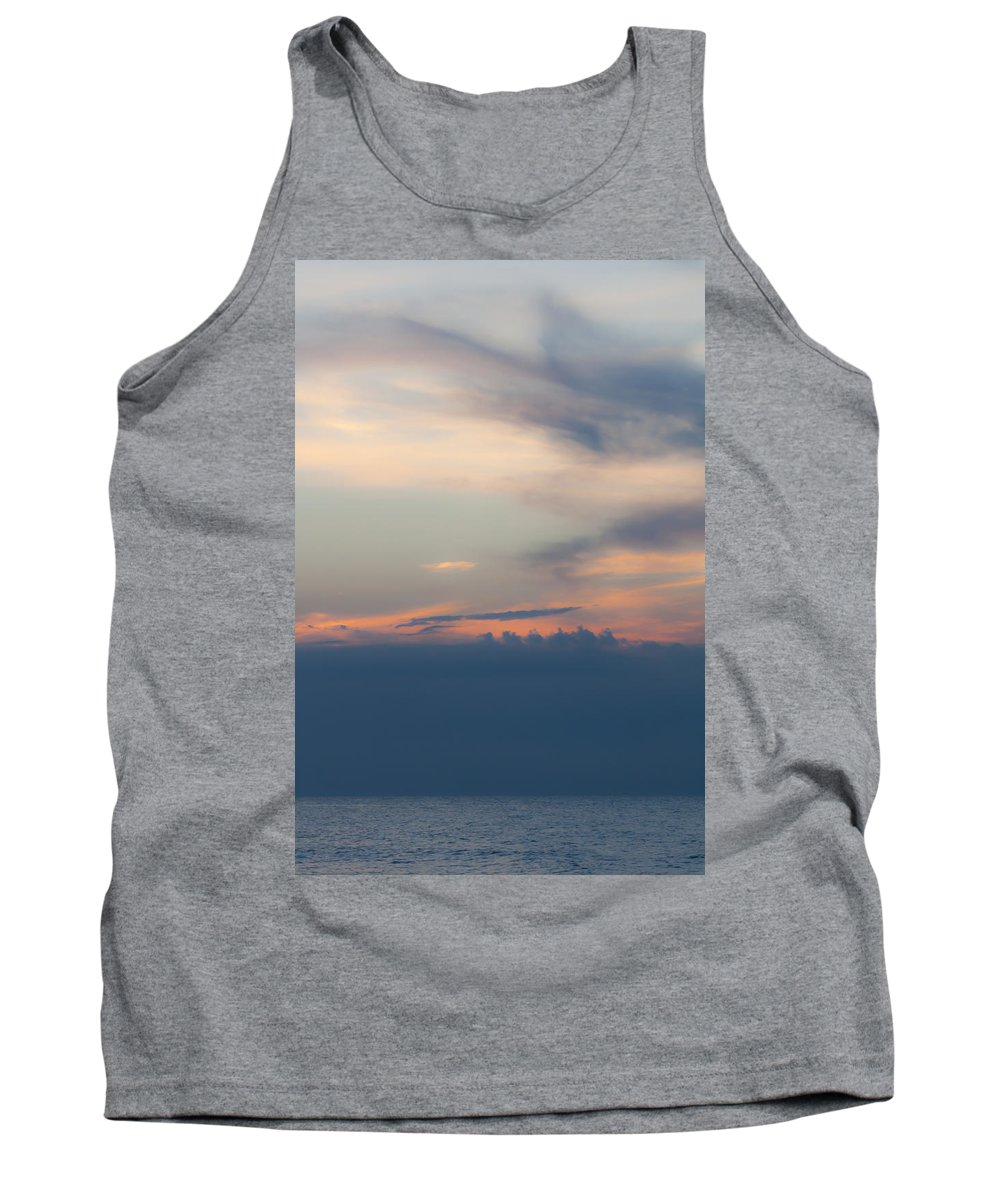 Sunrise Tank Top featuring the photograph Hidden Behind The Clouds 2 by Teresa Mucha