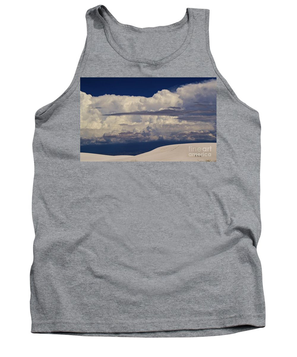 Roena King Tank Top featuring the photograph Hidden Mountains In The Shadows Of The Storm by Roena King