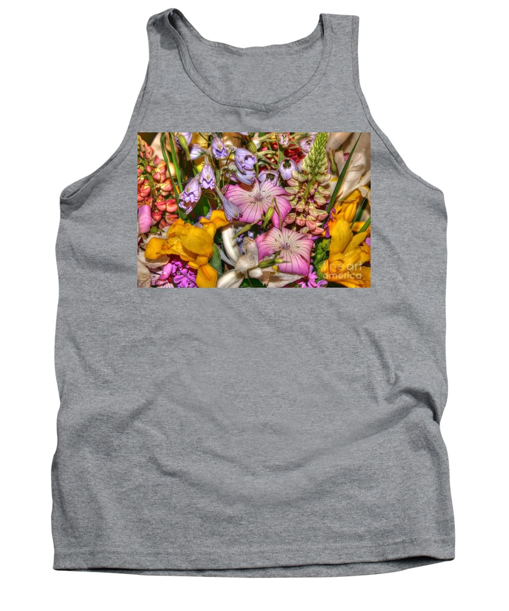 Flowers Tank Top featuring the photograph Honoring Valerie by Tap On Photo