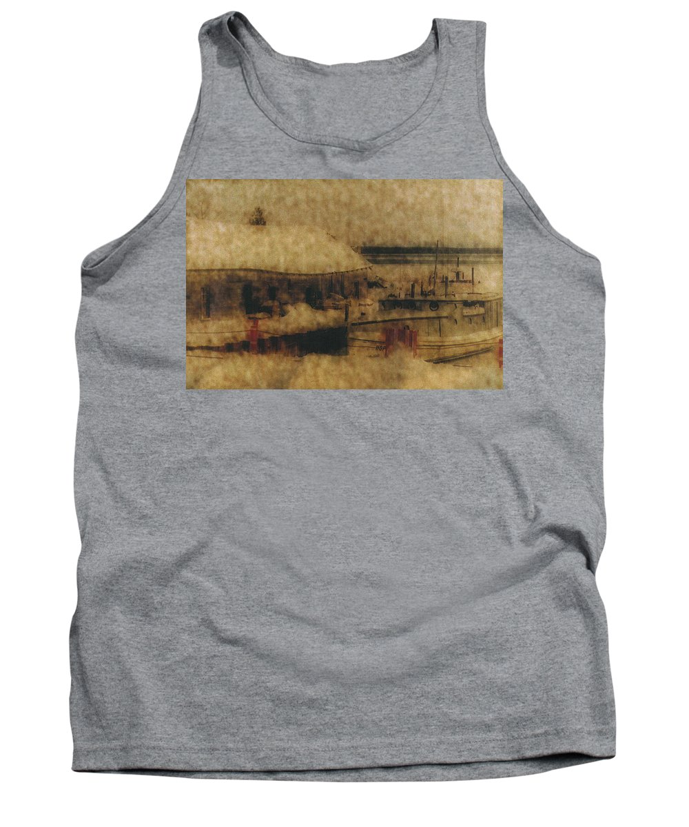 Ellison Bay Wisconsin Tank Top featuring the photograph Hope For Fish by Carrie Godwin