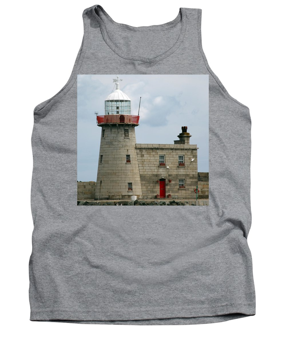 Howth Lighthouse Tank Top featuring the photograph Howth Lighthouse 0001 by Carol Ann Thomas