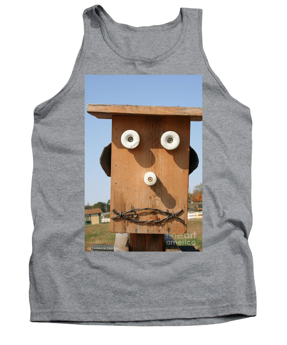 Outdoors Tank Top featuring the photograph Insulator Eyed by Susan Herber