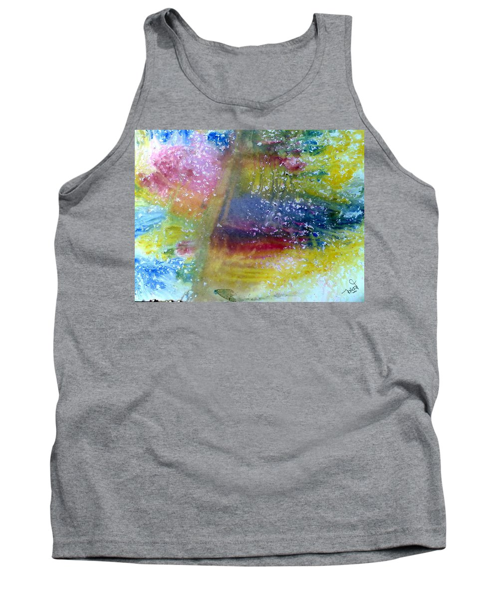 Weather Tank Top featuring the painting Irish Weather by Tis Art