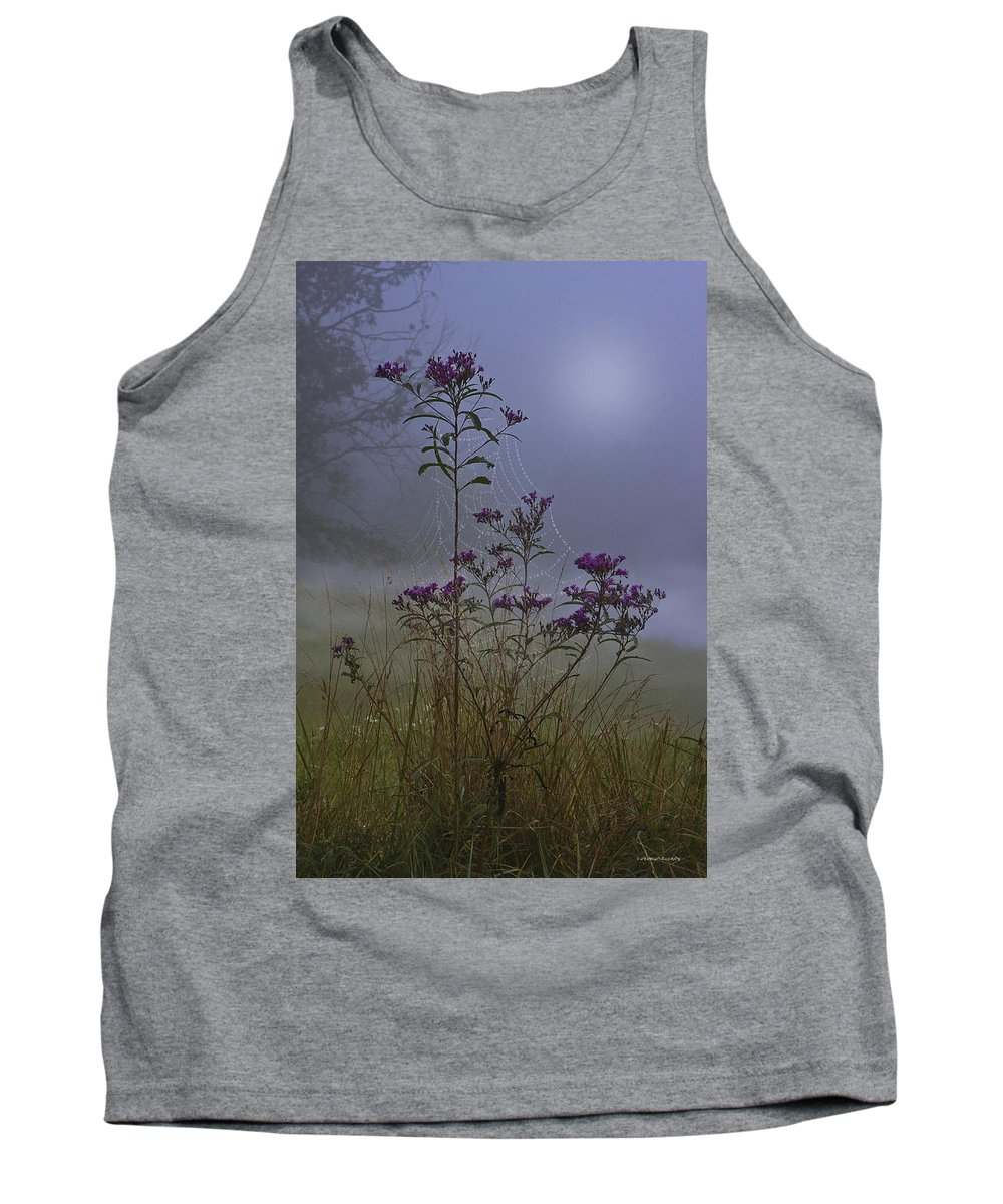 Morning Tank Top featuring the photograph Ironweed Morning by Ron Jones