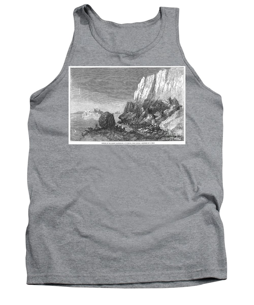1856 Tank Top featuring the photograph Italy: Earthquake, 1856 by Granger