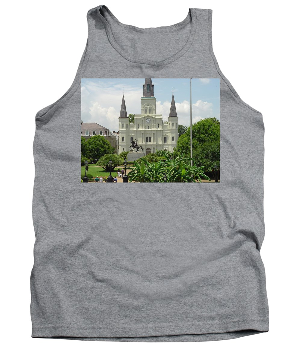 Jackson Square Tank Top featuring the photograph Jackson Square by Michael MacGregor