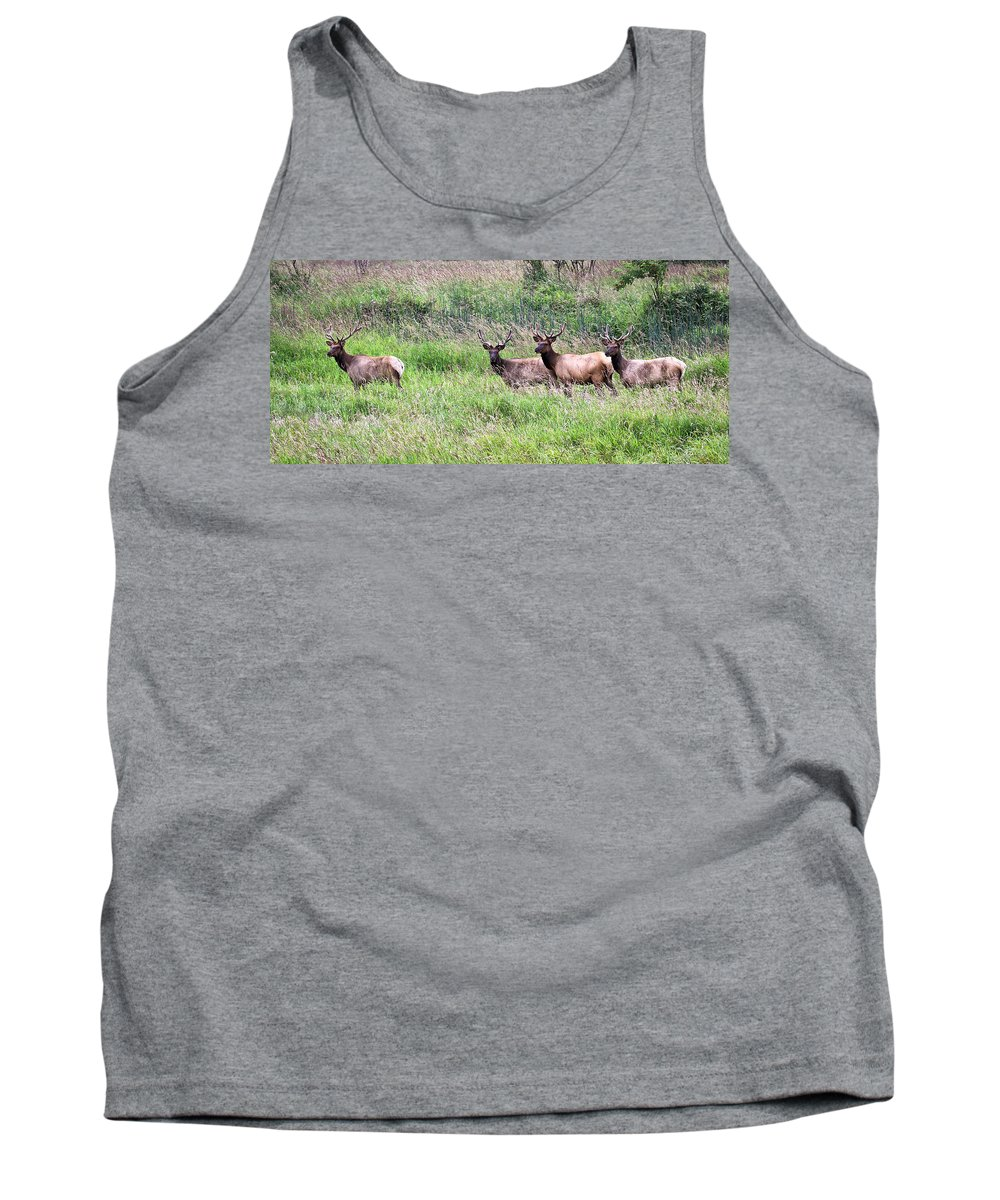 Prairie Tank Top featuring the photograph Just The Guys by Steve McKinzie