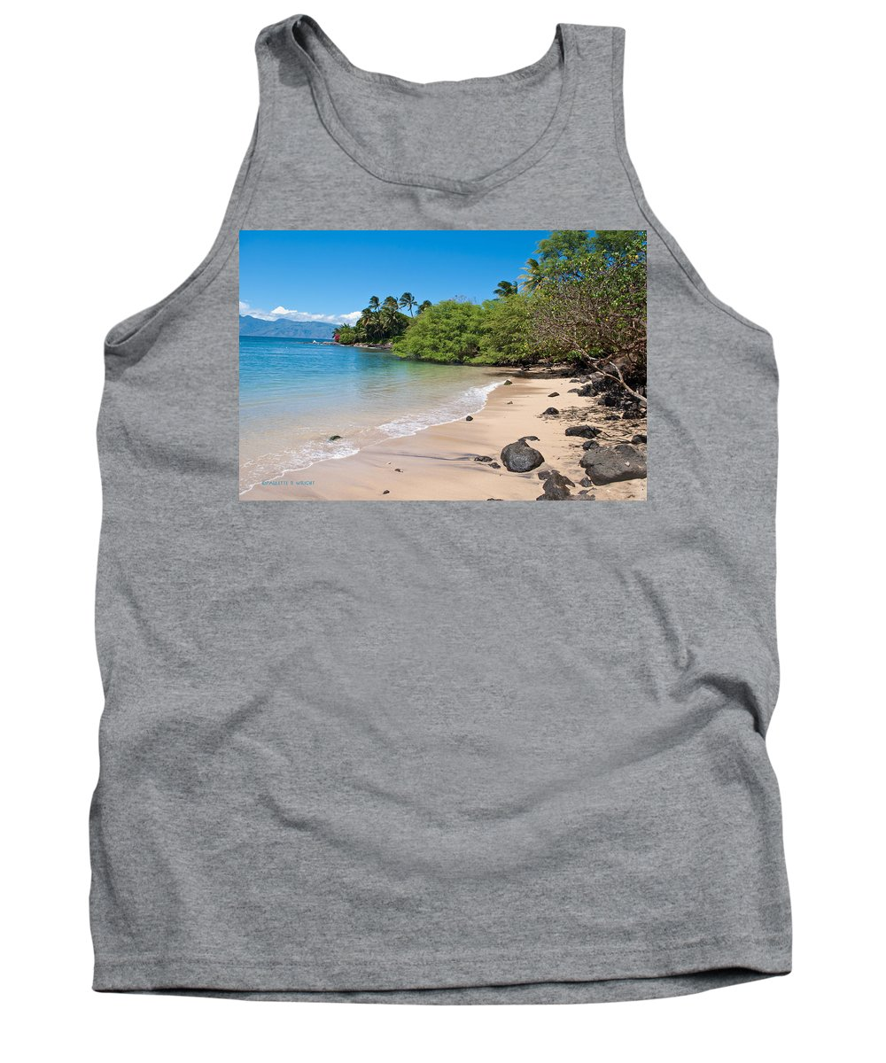 Interior Design Tank Top featuring the photograph Kahana Beach by Paulette B Wright