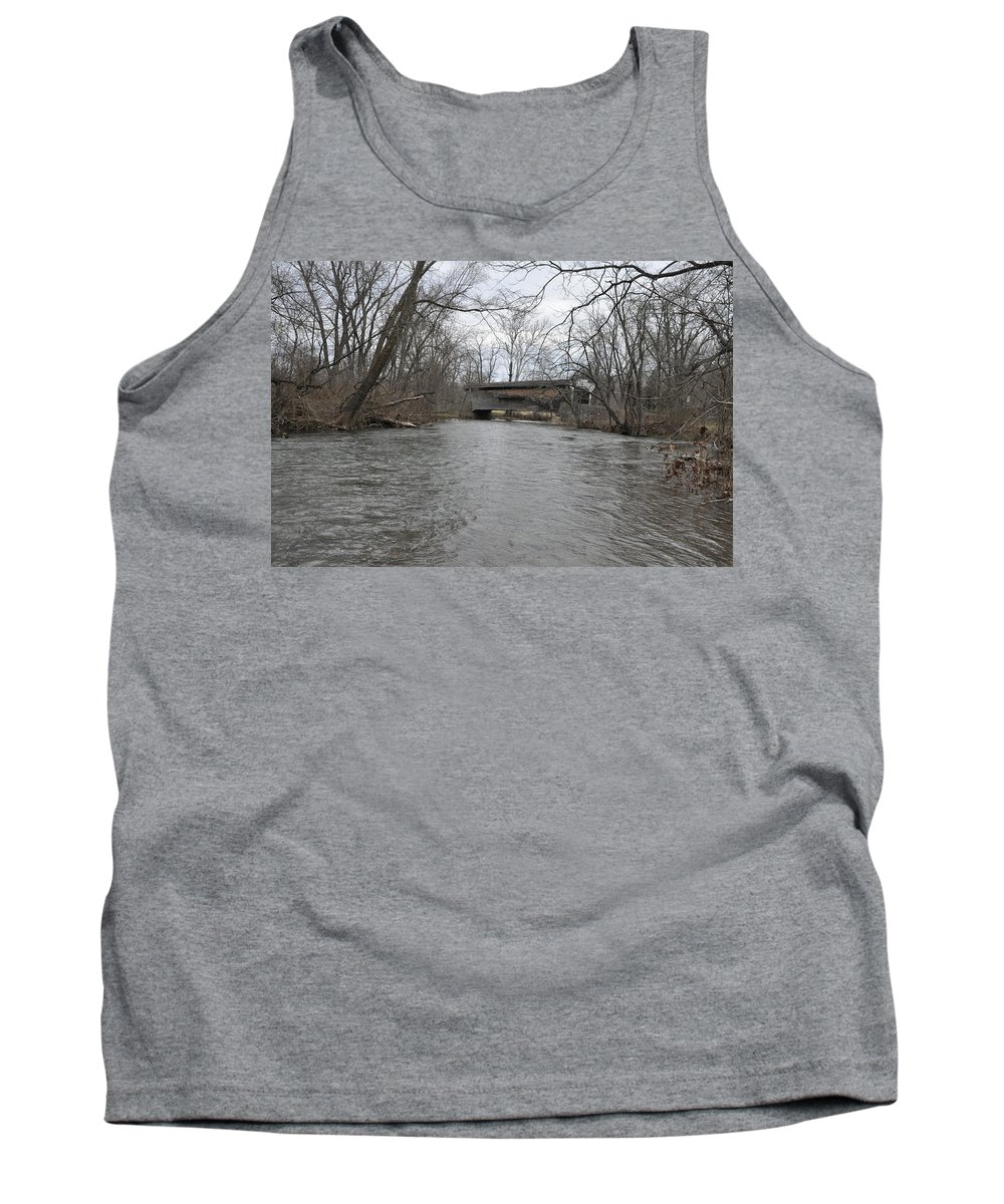 Kennedys Tank Top featuring the photograph Kennedy Bridge Over French Creek by Bill Cannon