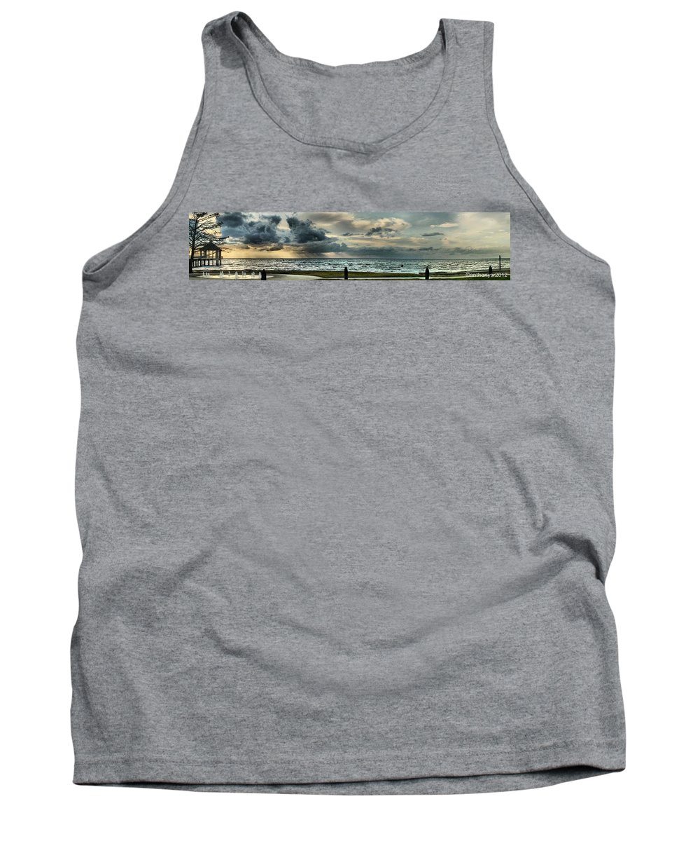 Landscape Panorama Tank Top featuring the photograph Lake Pontchartrain by Anthony Walker Sr