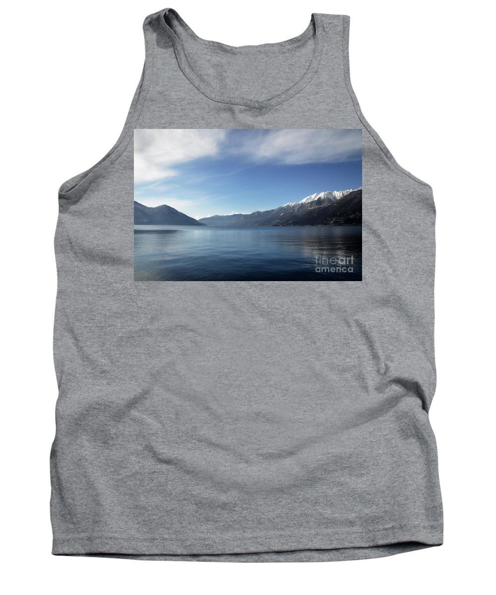 Lake Tank Top featuring the photograph Lake With Snow-capped Mountain by Mats Silvan