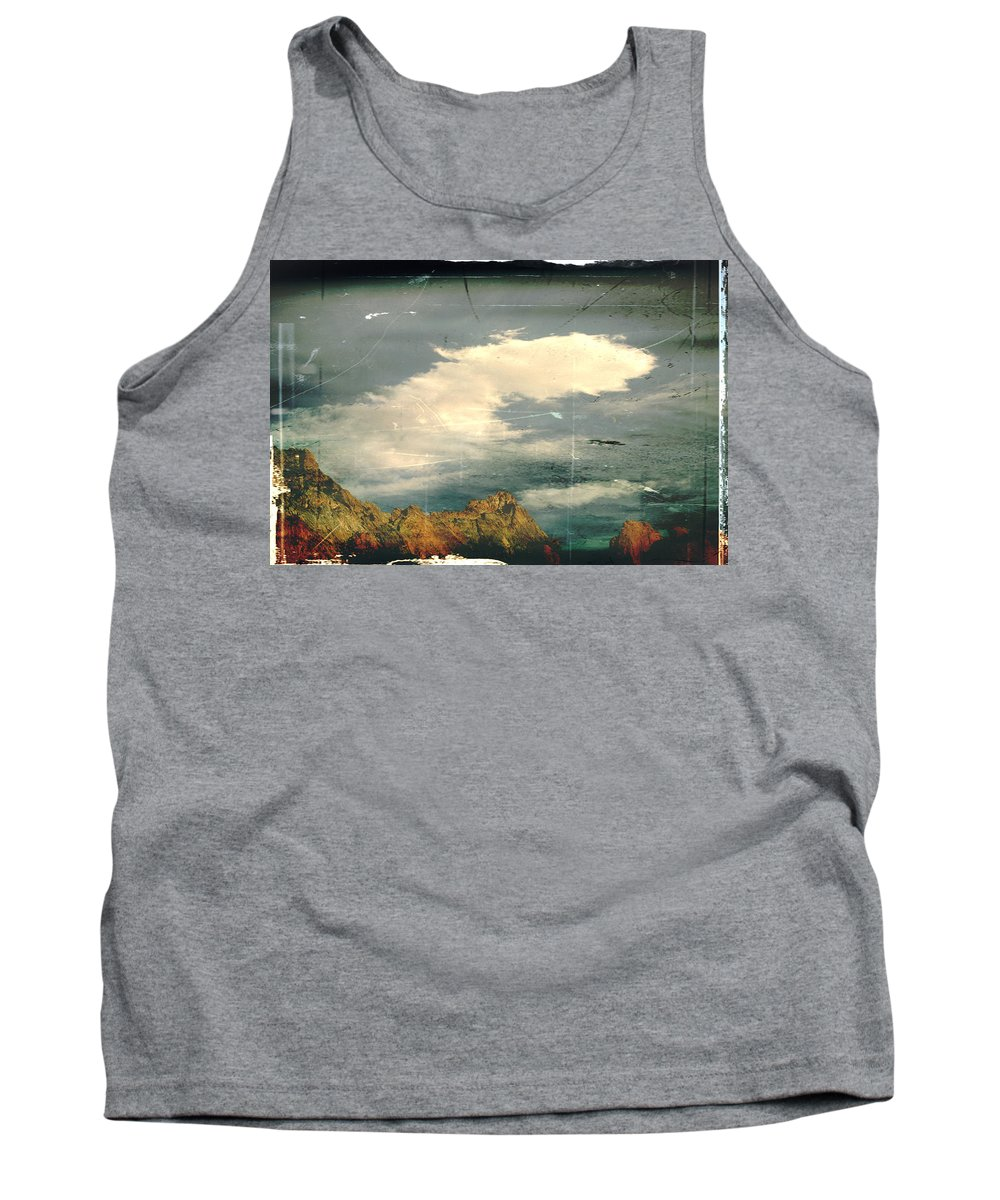 Mountains Tank Top featuring the photograph Land Meets Sky by Toni Hopper