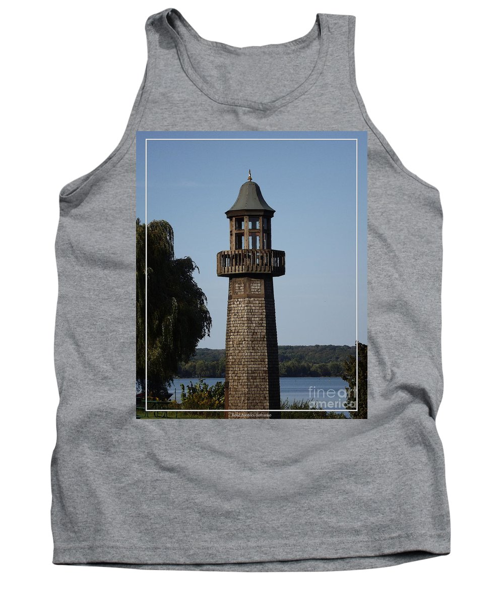 Lighthouse Tank Top featuring the photograph Lighthouse At Lake Chautauqua by Rose Santuci-Sofranko