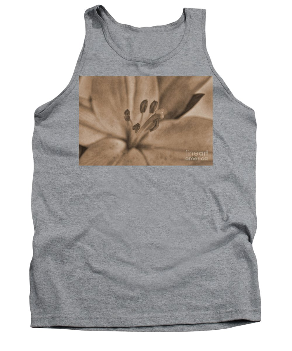 Lilly Tank Top featuring the photograph Lilly Old World by Deborah Benoit