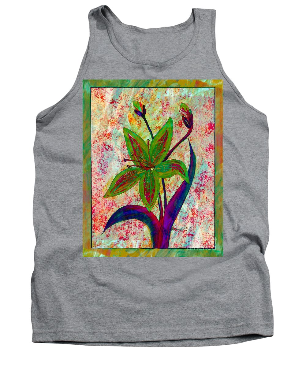 Lily Abstraction Tank Top featuring the digital art Lily Abstraction by Barbara Griffin