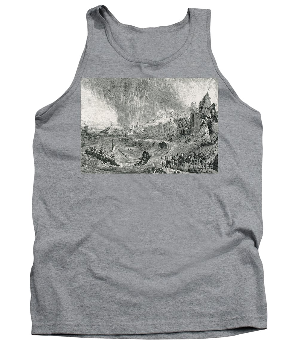 Weather Tank Top featuring the photograph Lisbon Tsunami, 1755 by Science Source