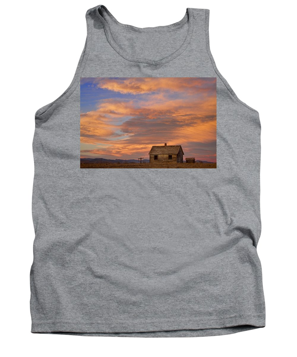 North Tank Top featuring the photograph Little House On The Colorado Prairie by James BO Insogna