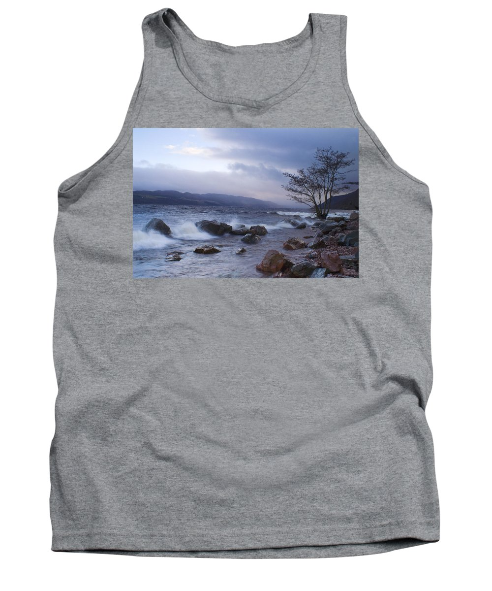 Loch Ness Tank Top featuring the photograph Loch Ness Shoreline At Dusk by Howard Kennedy