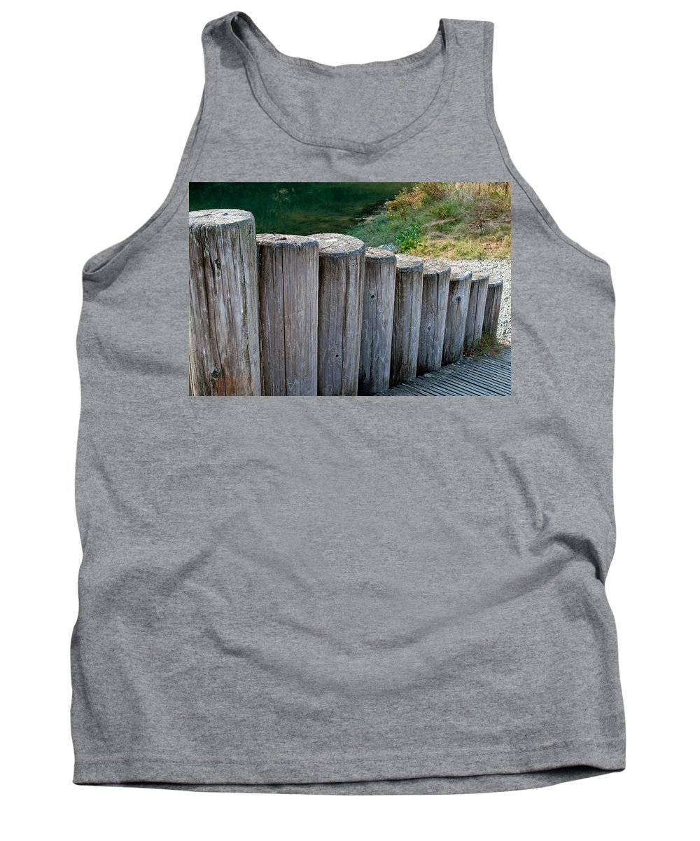 Ramp Tank Top featuring the photograph Log Handrail by Tikvah's Hope