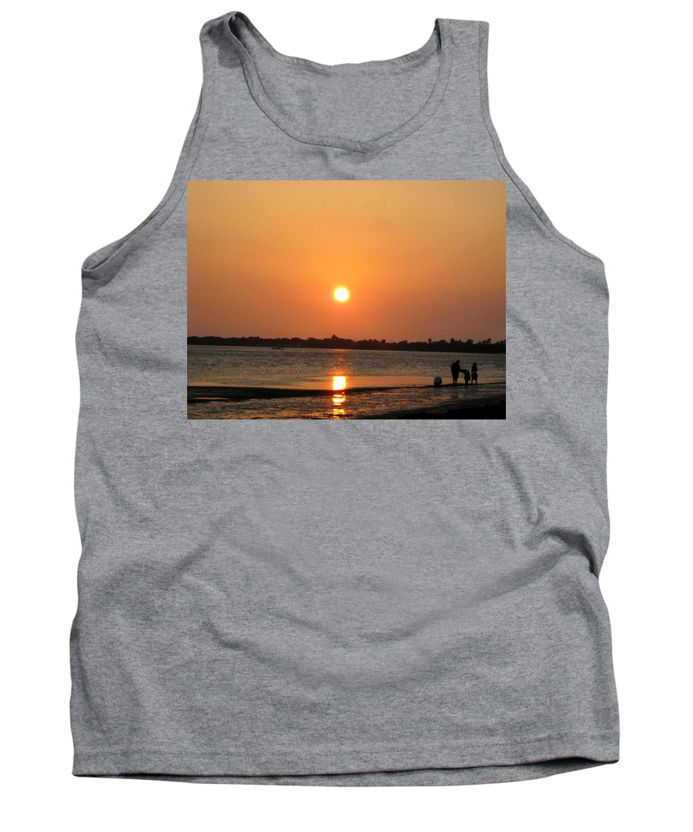 Dunedin Tank Top featuring the photograph Looking For Shells On The The Beach - Dunedin Florida by Bill Cannon