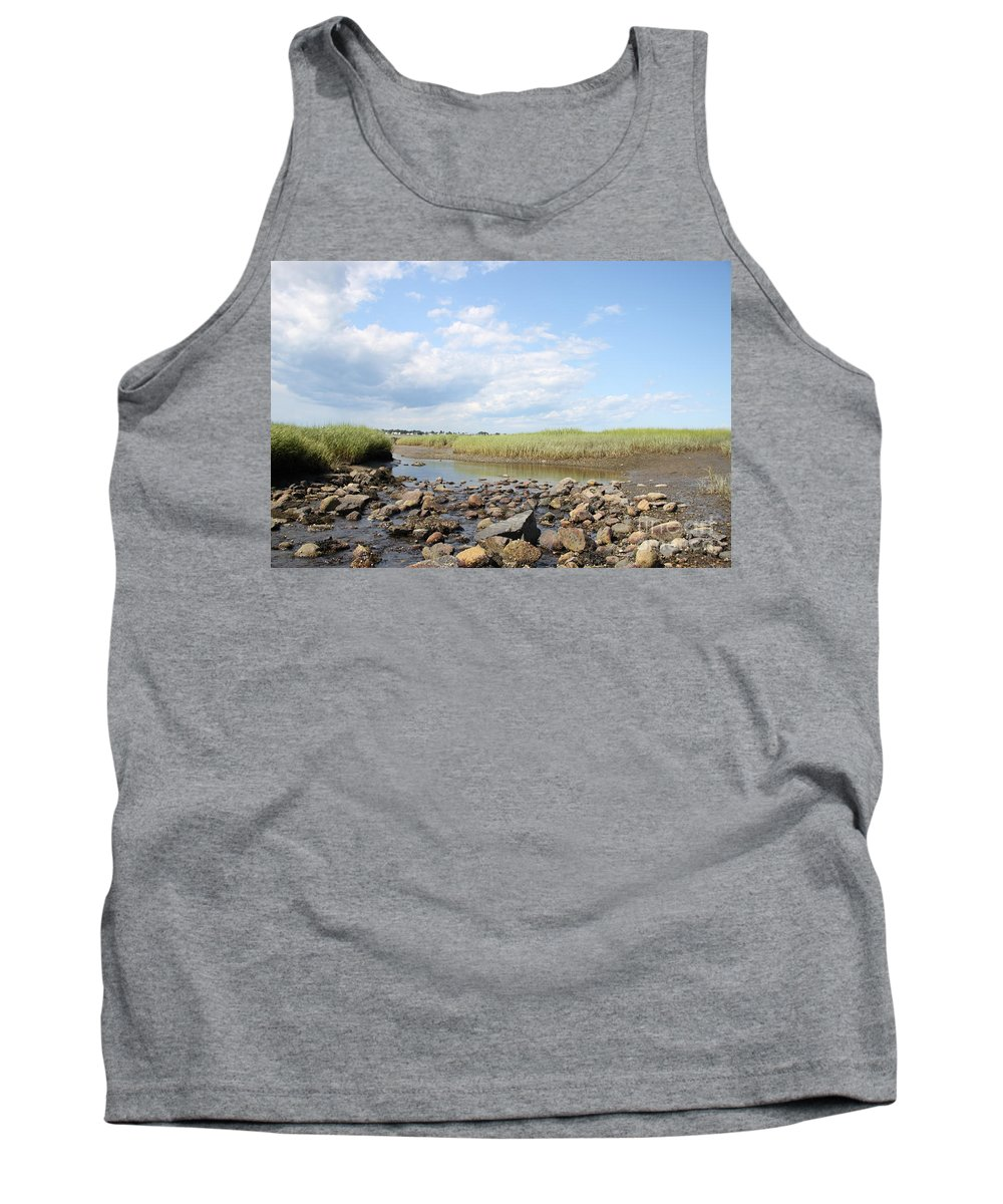 Biddeford Maine Tank Top featuring the photograph Low Tide by Michael Mooney
