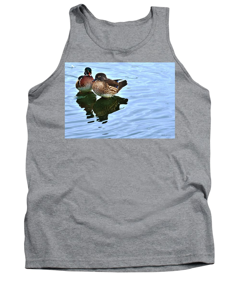 Wood Duck Tank Top featuring the photograph Ma And Pa Wood Duck by Edward Peterson