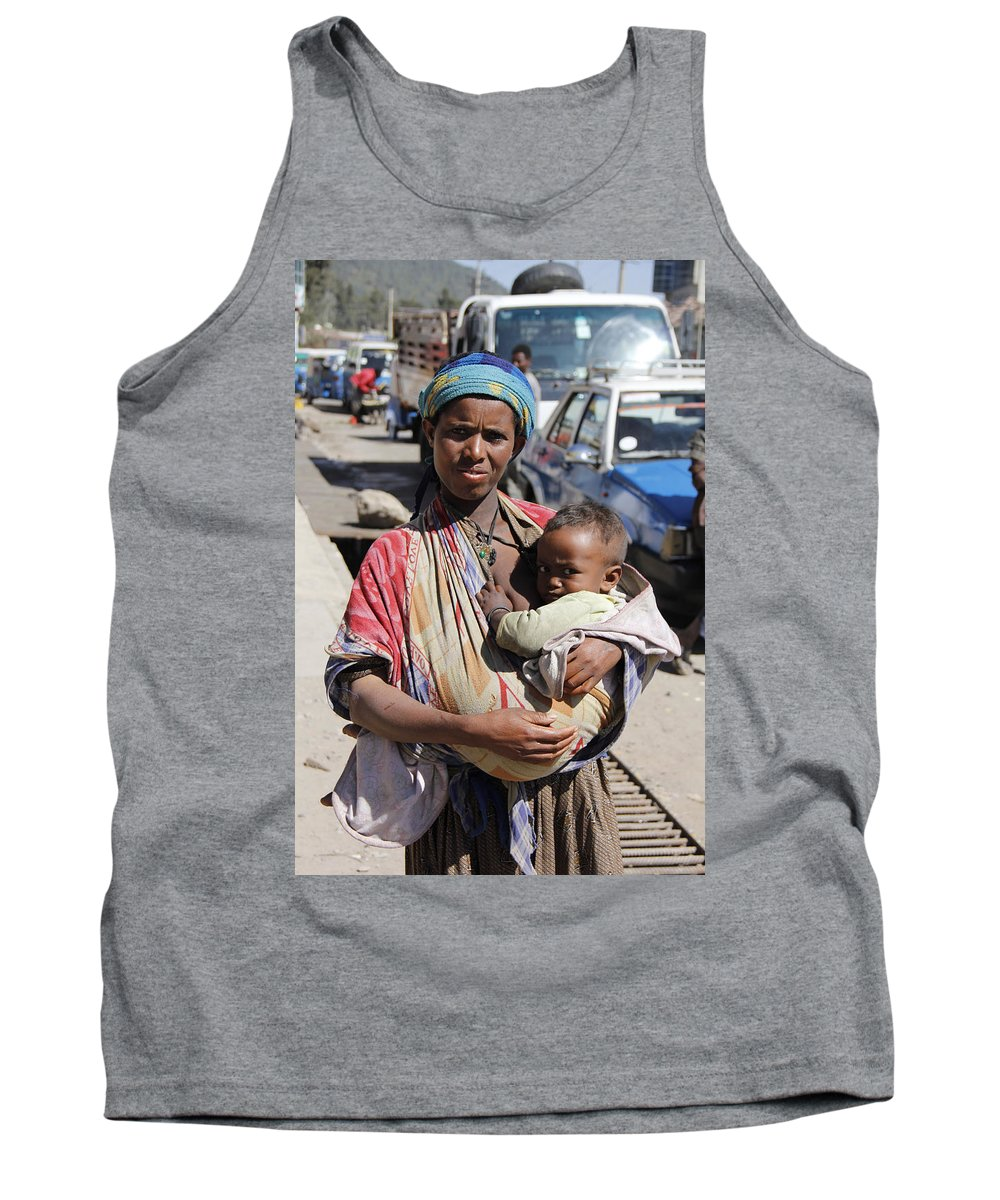 Mother Tank Top featuring the painting Madonna Of Addis Ababa by Robert SORENSEN